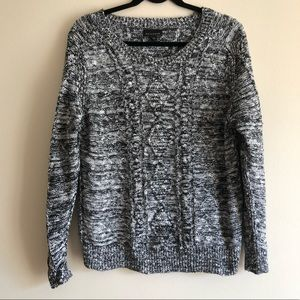METAPHOR Comfy Sweater Gray & Black